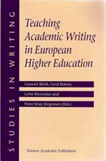Book cover Teaching Academic Writing in European Higher Education